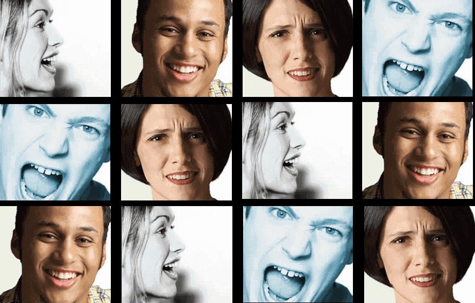 EasyFeedback Diferentes caras con distintas expresiones