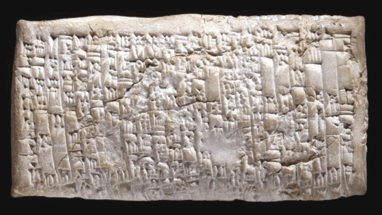 """EasyFeedback La """"tablilla de queja a Ea-Nasir"""" tallada en 1750 a.C. Foto Museo Britanico"""
