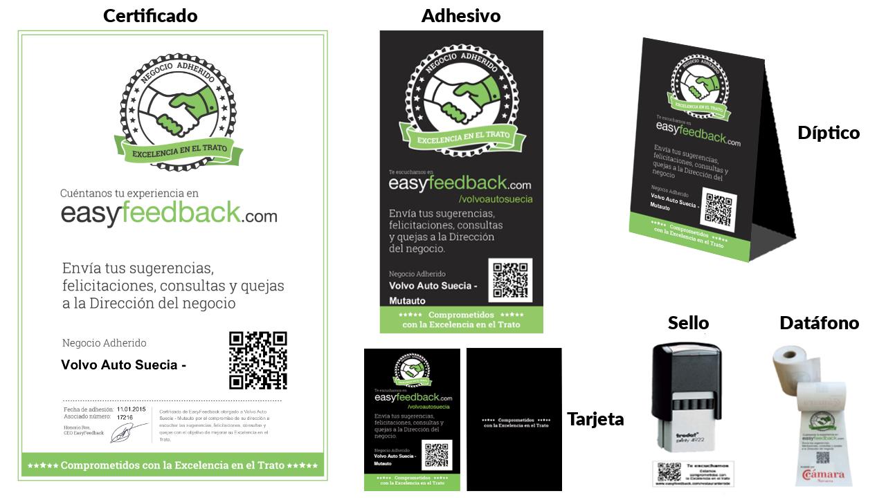 EasyFeedback kit de feedback físico personalizado